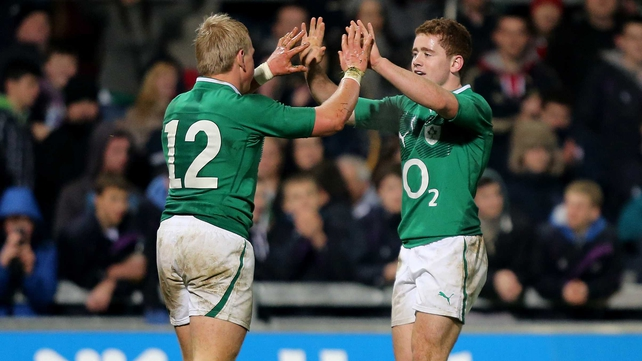 Ireland coach Declan Kidney sprung a surprise with the inclusion of  Paddy Jackson and Luke Marshall in his starting line-up to face Scotland at Murrayfield