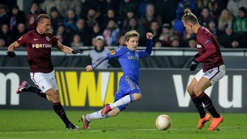Chelsea lead Sparta Prague 1-0 ahead of the return leg at Stamford Bridge