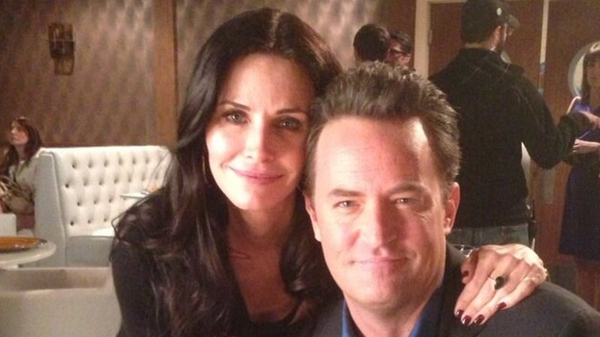 Matthew Perry with former Friends' co-star Courteney Cox