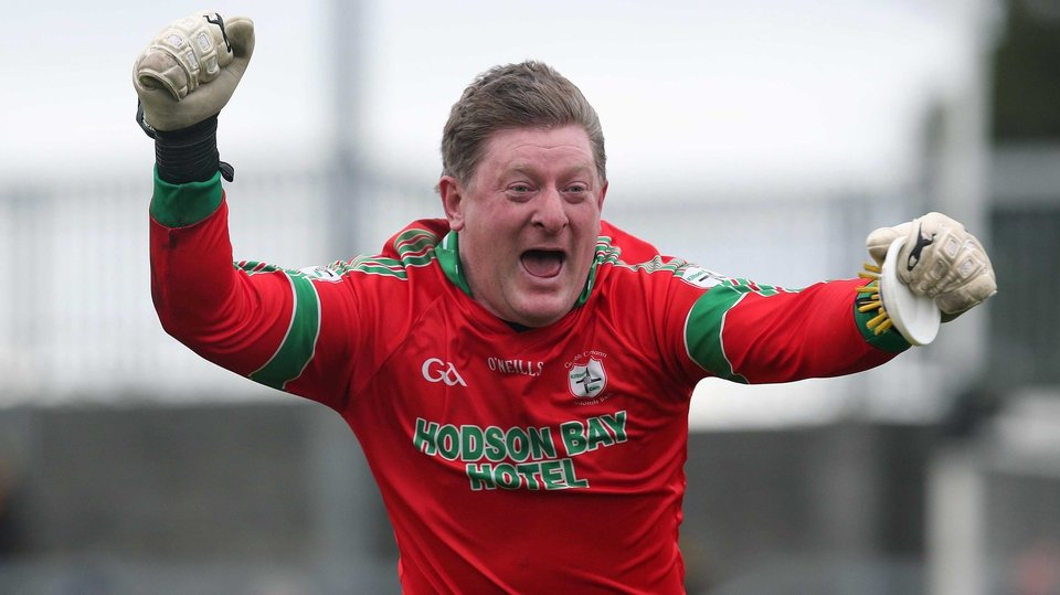 Goalkeeper Shane Curran celebrates after St Brigid's booked their place in the All-Ireland club final