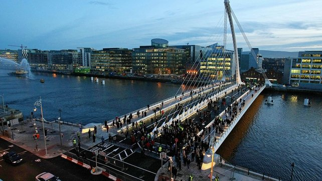 The three most recent bridges across the Liffey were named after men
