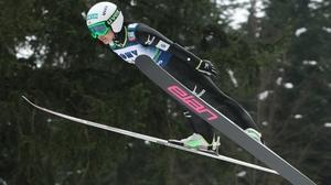 Sara Takanashi of Japan jumps during the FIS Women's Ski Jumping in Ljubno ob Savinji, Slovenia