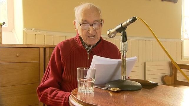 Des Aylmer, 84, hosts a weekly radio programme