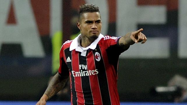 Kevin Prince Boateng put Milan ahead