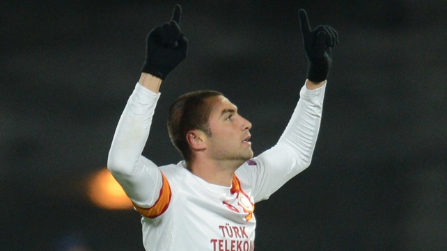 Burak Yilmaz scored his seventh goal in seven Champions League matches