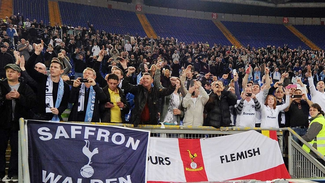 Tottenham fans were attacked in a Lyon pub
