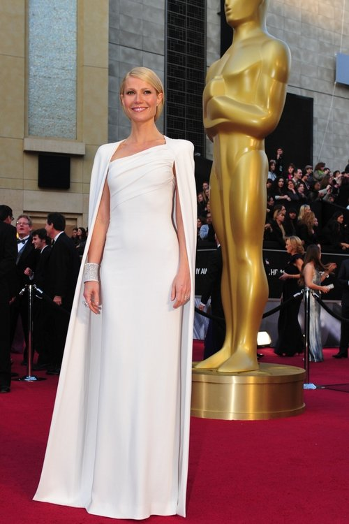 Gwyneth dazzled on the red carpet at last year's Oscar Awards as she gave the public the very first glimpse of Tom Ford's eponymous fashion line. Her cape gown was surely the talking point of the night, which continued throughout 2012!