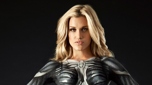 Check out the behind the scenes footage of Ashley's Nanosuit