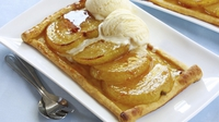 Pear tart with Chantilly cream and butterscotch - What a delicious dessert, a real Winter warmer.