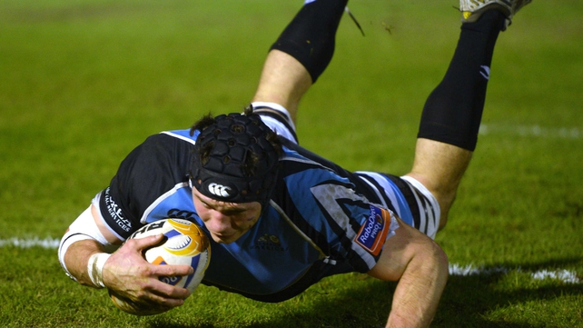 Tim Swinson was among the try scorers for the Scottish outfit