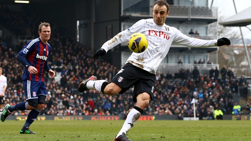 Berbatov's volley, in first-half stoppage time, proved the difference between the sides