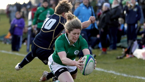 Alison Miller was among the try scorers for Ireland