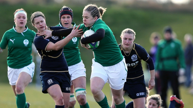 Ireland's Niamh Briggs scored a try and won player of the match