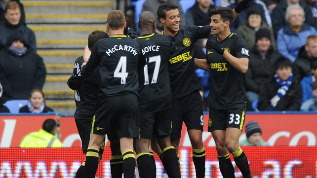 James McCarthy joins the celebrations as Wigan beat  Reading