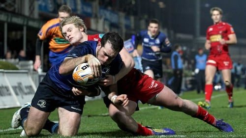 Andrew Goodman scored Leinster's first try at the RDS