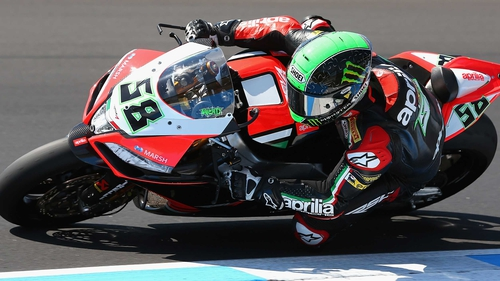 Eugene Laverty took the chequered flag in the second race
