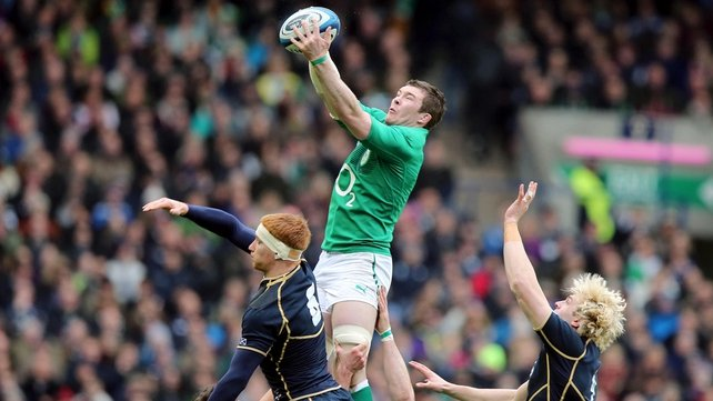 Peter O'Mahony in action against Scotland in last year's 'gut-wrenching' 6 Nations encounter