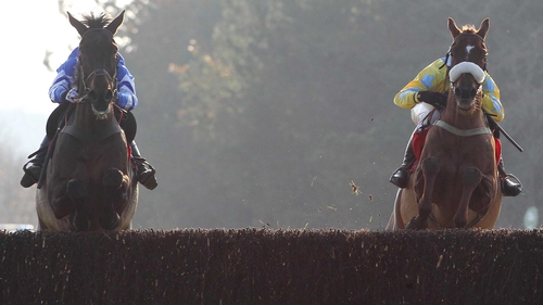 Days Hotel (l) winning the race 12 months ago