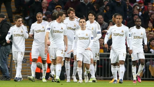 Swansea strolled past Bradford at Wembley