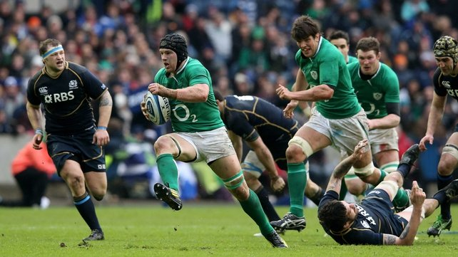 Sean O'Brien made huge ground for Ireland at Murrayfield, but the team failed to finish off several try-scoring opportunities against Scotland