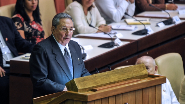 Raul Castro said he hopes to establish two-term limits and age caps for political offices including the presidency