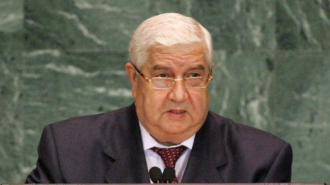 Syrian Foreign Minister Walid al-Moualem told Russia's foreign minister that Syrian govt is ready for dialogue