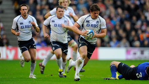 Ross Ford was forced from the field against Ireland with a facial injury