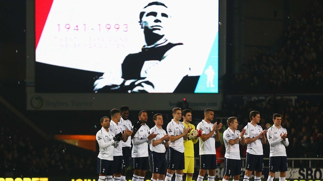Tottenham players applaud as West Ham mark the 20th anniversary of the passing of Bobby Moore