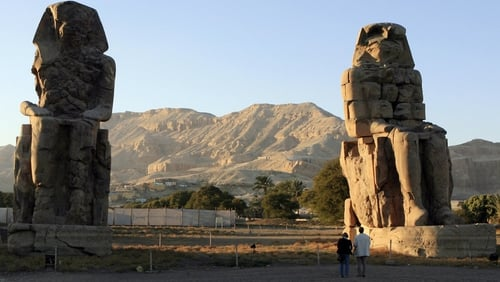 The balloon crashed near the famed ancient city of Luxor