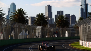 Melbourne city provides a dramatic backdrop for the Australian GP