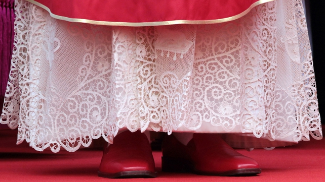 Pope Benedict will no longer wear his trademark red shoes once he retires