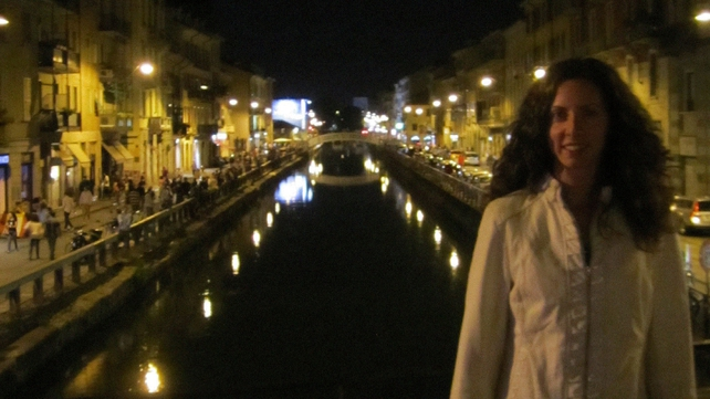 She loved to travel - this picture shows her on a visit to Italy