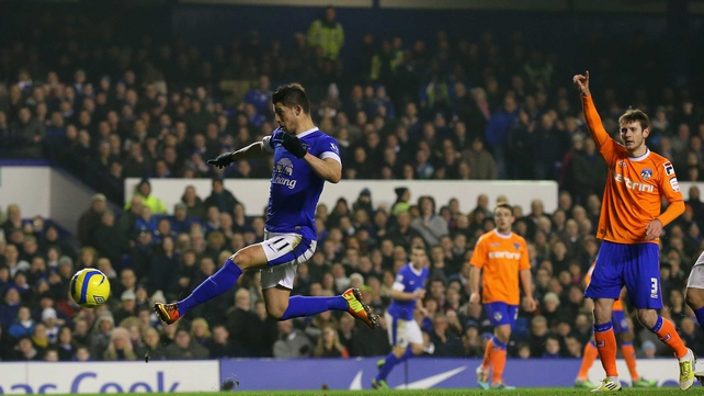 Kevin Mirallas set Everton on their way