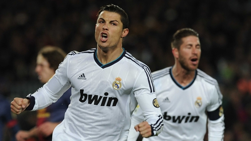 Cristiano Ronaldo scored on the double against Barcelona