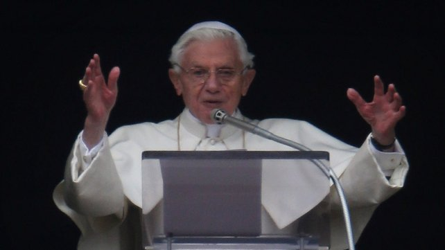 Pope Benedict delivered his last Angelus Blessing from the window of his private apartment on Sunday