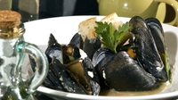 Mussels in Irish Cider - Serve with some crusty bread to mop up the liquid!
