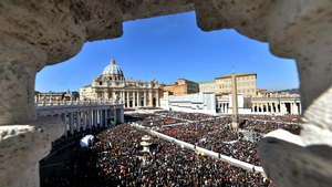 People travelled from all over Italy and abroad to thank the Pope and wish him well