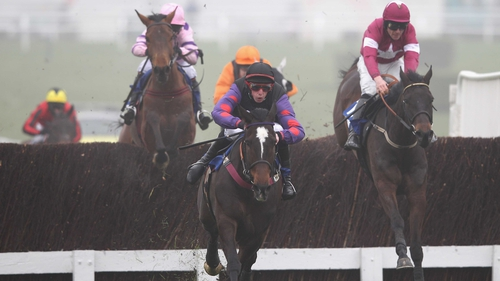 Champion Court (centre) in action at last year's Cheltenham Festival