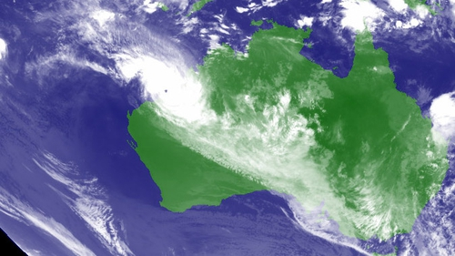 Cyclone Rusty has hit the east coast of Australia