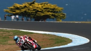 Carlos Checa of Spain at the World Superbikes at Phillip Island Grand Prix Circuit, Australia