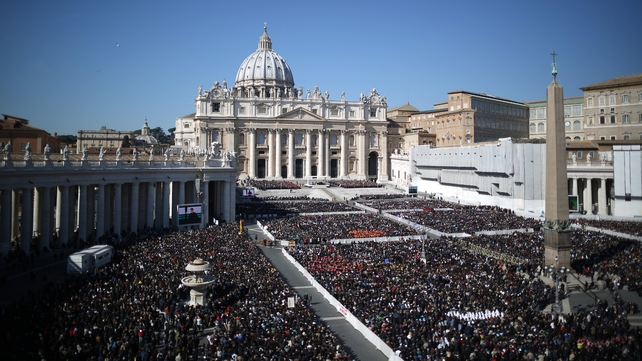 Up to 150,000 people turned out in St Peter's Square to hear Benedict's final public address