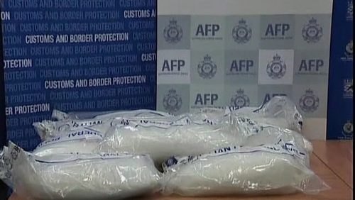 585kg of methamphetamines were found in a shipment smuggled from China