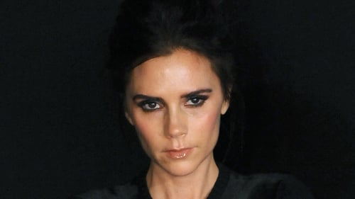 Victoria Beckham broke her stern image over the weekend