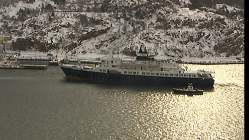 The Coastguard had been monitoring the abandoned cruise ship as it drifted towards Ireland