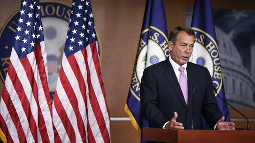 Republican John Boehner blamed Democrats for the fiscal crisis