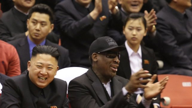 Rodman was in North Korea to film an episode of a TV series