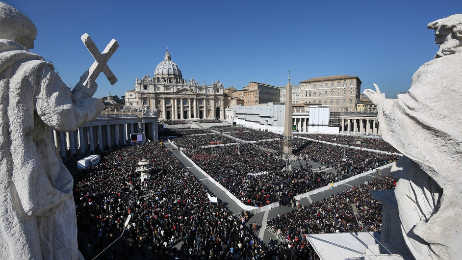Hundreds of thousands turned out in St Peter's Square to see Pope Benedict XVI's final general audience