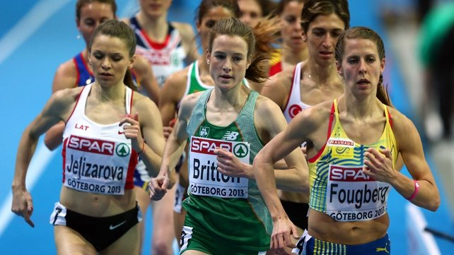 Fionnuala Britton finished third in her heat of the 3000m