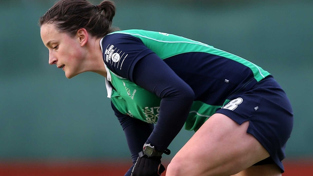 Audrey O'Flynn and the rest of the Ireland squad were edged out by Scotland