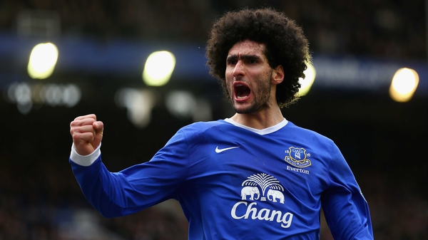 Marouane Fellaini set Everton on the road to victory with his opener in the first half